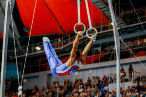 Gymnast on the rings